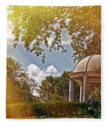 Stone Gazebo Fleece Blanket