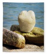 Stone Heart  Fleece Blanket