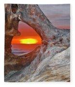 Stone Lagoon Sunset Fleece Blanket