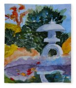 Stone Lantern Fleece Blanket