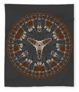 Stone Ridge Mandala Fleece Blanket