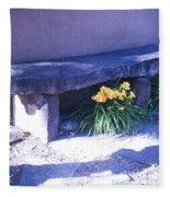 Stone Slab Bench 1 Fleece Blanket