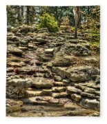 Stone Spring At Woodward Park 1 Fleece Blanket