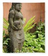 Stone Statue In Bali Indonesia  Fleece Blanket