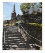 Stone Steps And Saint Peters Church At Harpers Ferry Fleece Blanket