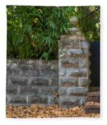 Stone Wall And Gate Fleece Blanket