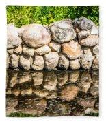 Stone Wall Reflection Fleece Blanket