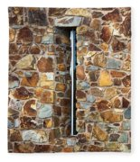 Stone Wall-small Window Fleece Blanket