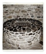 Stone Well At Old Fort Niagara Fleece Blanket