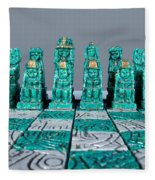 Stoned On Chess Fleece Blanket