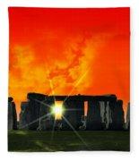 Stonehenge Solstice Fleece Blanket