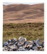 Stones And Sand Fleece Blanket