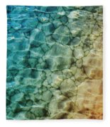 Stones In The Sea Fleece Blanket