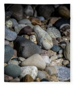 Stones On Beach Fleece Blanket