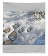Stones Waiting Fleece Blanket