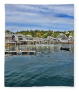 Stonington In Maine Fleece Blanket