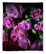 Stop And Smell The Roses Fleece Blanket