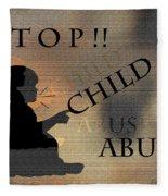 Stop Child Abuse Fleece Blanket