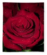 Stop To Smell The Roses Fleece Blanket