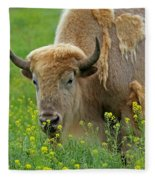 Stopped To Smell The Flowers Fleece Blanket