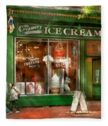 Store Front - Alexandria Va - The Creamery Fleece Blanket