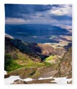 Storm Above The Alvord Desert Fleece Blanket