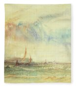 Storm At Sunset, Venice, C.1840 Fleece Blanket
