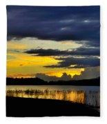 Storm At The Lake Fleece Blanket