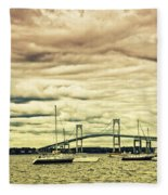 Storm Brewing In Newport Fleece Blanket