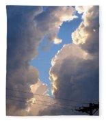 Storm Clouds 4 Fleece Blanket