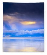 Storm Clouds And Lake Winnipeg At Fleece Blanket