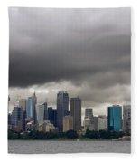 Storm Clouds Over Sydney Fleece Blanket