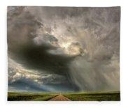 Storm Clouds Prairie Sky Saskatchewan Fleece Blanket