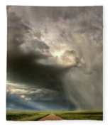 Storm Clouds Prairie Sky Saskatchewan Fleece Blanket