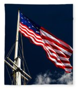 Storm Flag At Fort Mchenry Fleece Blanket