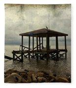Storm In The Distance Fleece Blanket