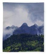 Storm In The San Juan Mountains Fleece Blanket