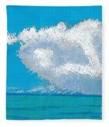 Storm Off The Beach Fleece Blanket