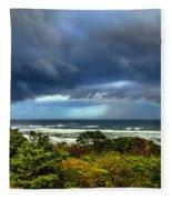 Storm On Oregon Coast Fleece Blanket