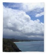 Storm Over Bali Hai Fleece Blanket