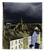 Storm Over Conwy Fleece Blanket