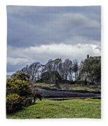 Storm Over Dunollie Fleece Blanket