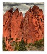 Storm Over Red Rocks Fleece Blanket
