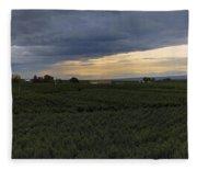 Storm Over The Yakima Valley Fleece Blanket