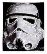 Storm Trooper Helmet Fleece Blanket