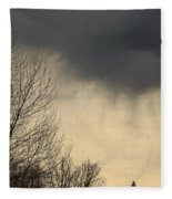 Storm Virga Over Rogue Valley Fleece Blanket