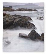 Storm Waves And Cliffs Fleece Blanket