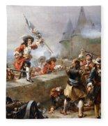Storming The Battlements Fleece Blanket