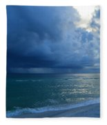 Storms Brewing Off Navarre Beach At Dawn Fleece Blanket