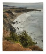 Storms Over A Rugged Coast Fleece Blanket